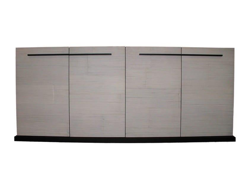 Walnut highboard with doors OTTO 169 - Gervasoni