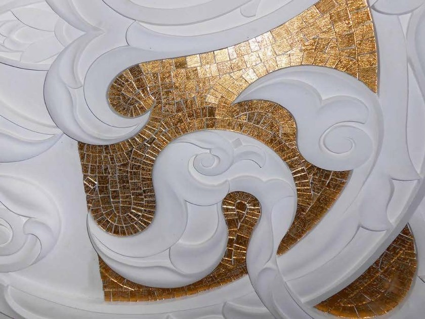 Glass Mosaic BRECCI GOLD MOSAICS - Brecci by Eidos Glass