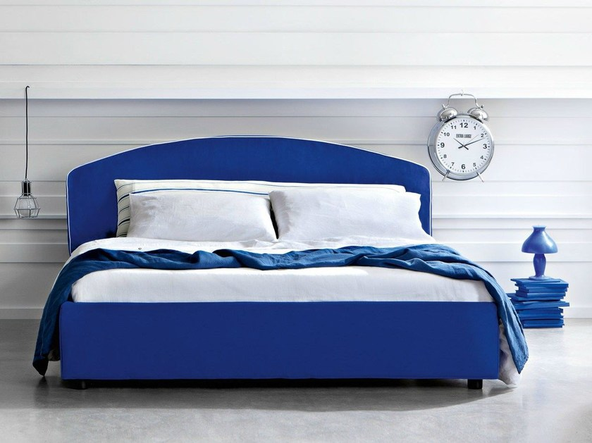 Double bed with upholstered headboard ARCO - Letti&Co.
