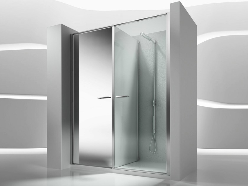Niche shower cabin with storage container TWIN W11 - VISMARAVETRO