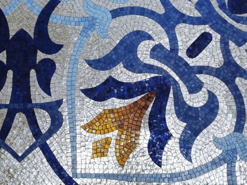 Glass Mosaic BRECCI PLATINUM MOSAICS - Brecci by Eidos Glass