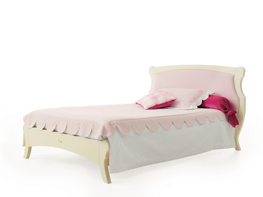 Bed with upholstered headboard FULTON | Bed - Minacciolo