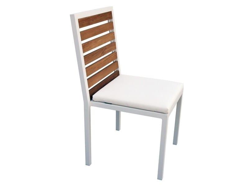 Aluminium and wood garden chair BRAZILIA | Garden chair - Sérénité Luxury Monaco