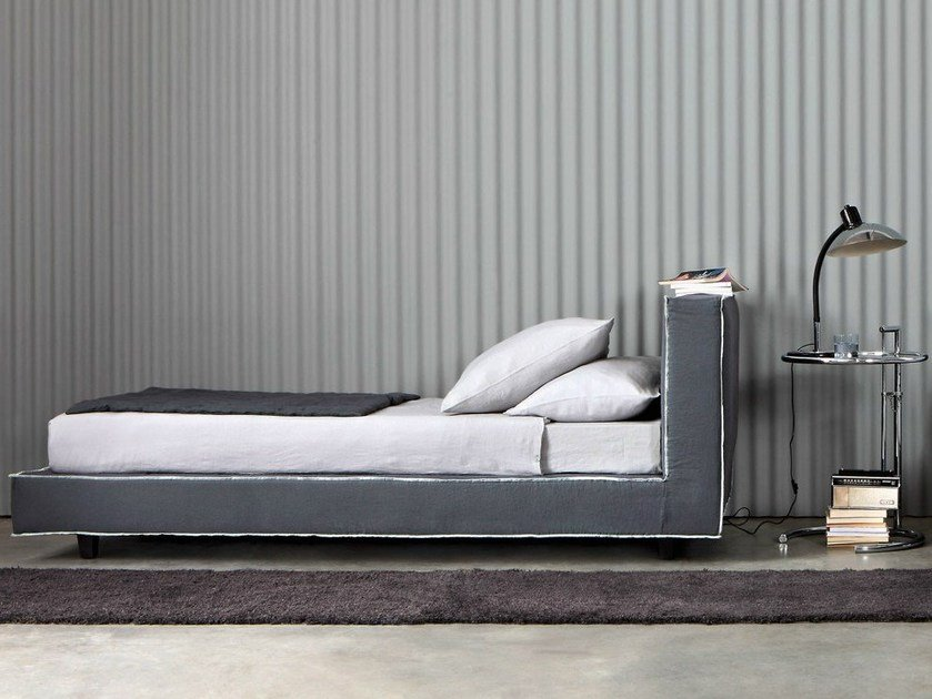 Single bed with upholstered headboard MOLTON | Single bed by Letti&Co.