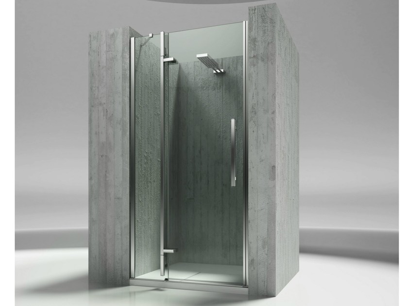 cabine de douche en niche sur mesure en verre tremp tiquadro qn collection tiquadro by. Black Bedroom Furniture Sets. Home Design Ideas