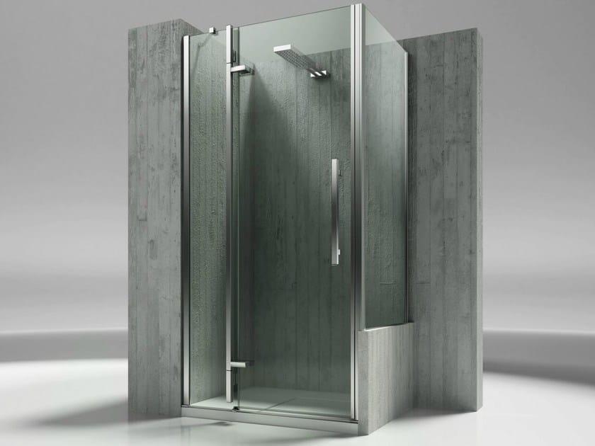 Custom tempered glass shower wall panel TIQUADRO QN+QP - VISMARAVETRO