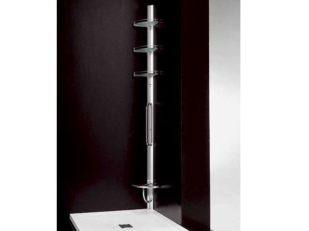 Wall-mounted corner aluminium shower column AMICO - VISMARAVETRO