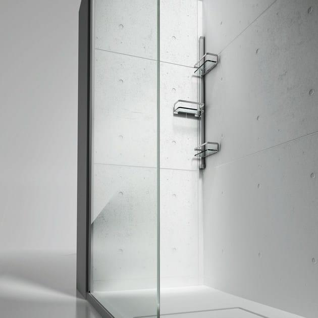 Colonna attrezzata per doccia basket vismaravetro for Accessori doccia design