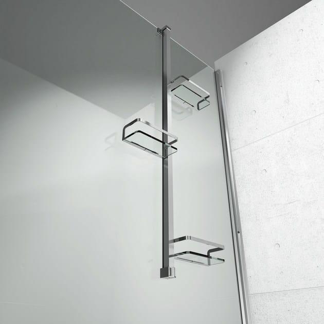 Colonna attrezzata per doccia basket vismaravetro - Accessori doccia portaoggetti ...