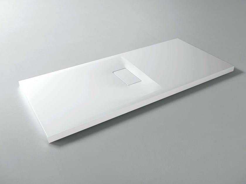 Rectangular custom Cristalplant® shower tray GEMINI by VISMARAVETRO