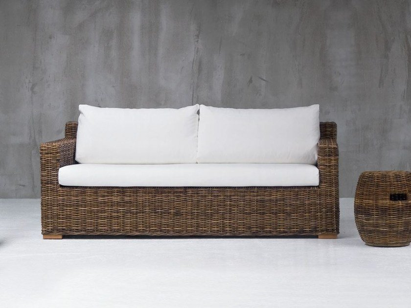 2 seater sofa with removable cover CROCO 06 - Gervasoni