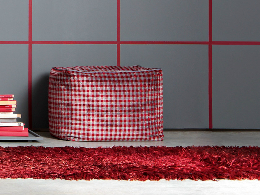 Pouf with removable lining POUF 60 by Letti&Co.