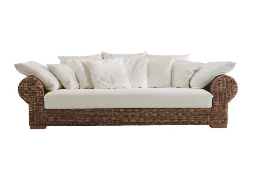 4 seater sofa with removable cover CROCO 03 - Gervasoni