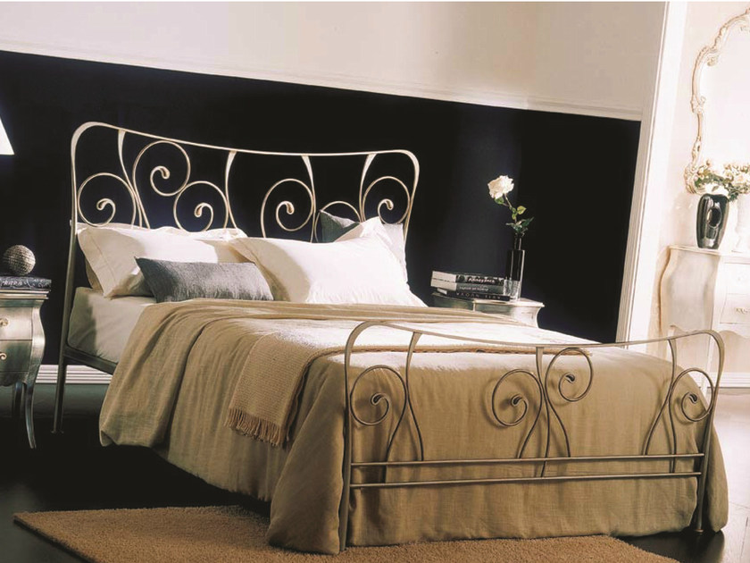 Classic style double bed FELCE | Iron bed - Bontempi Casa