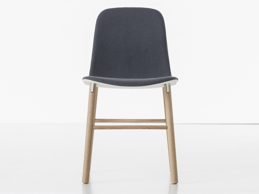 Upholstered fabric chair SHARKY | Upholstered chair by Kristalia