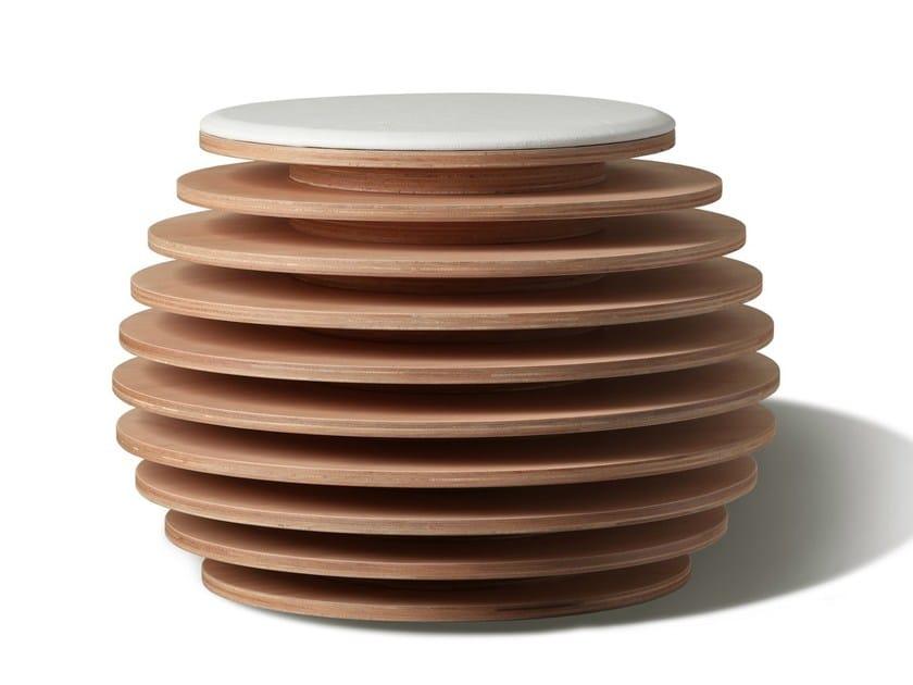 Storage multi-layer wood pouf MYO - Morelato
