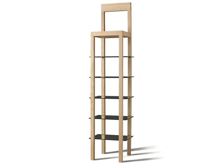 Open wood and glass bookcase ERRANTE | Bookcase - Morelato