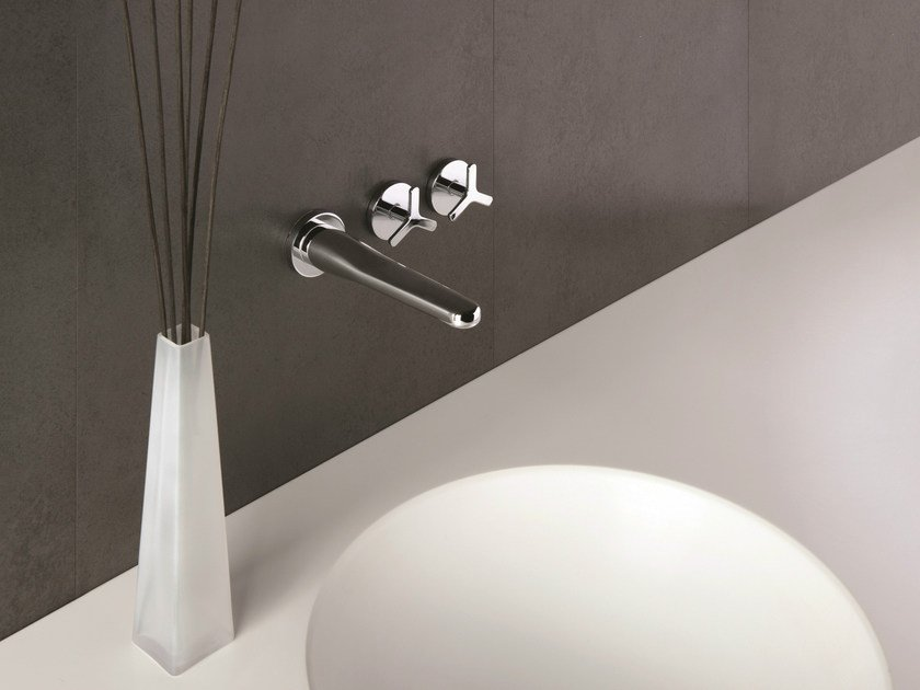 3 hole wall-mounted washbasin tap BEAK | Wall-mounted washbasin tap - CRISTINA Rubinetterie