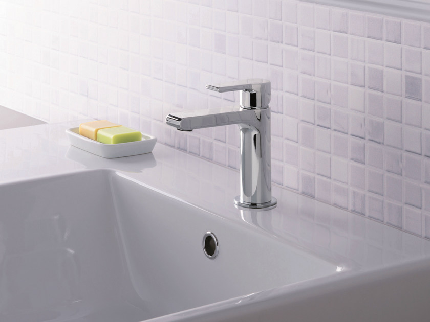 Chrome-plated countertop single handle washbasin mixer DELTA | Washbasin mixer - CRISTINA Rubinetterie