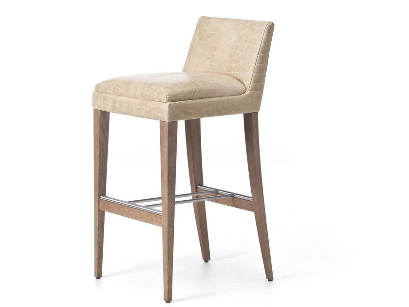 High barstool with footrest ONDA 06 - Very Wood
