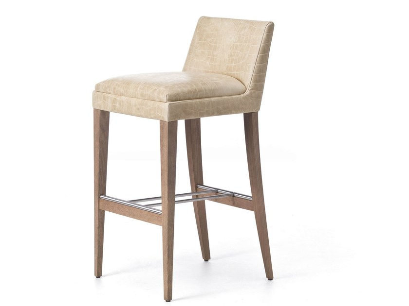 High barstool with footrest ONDA 06 by Very Wood