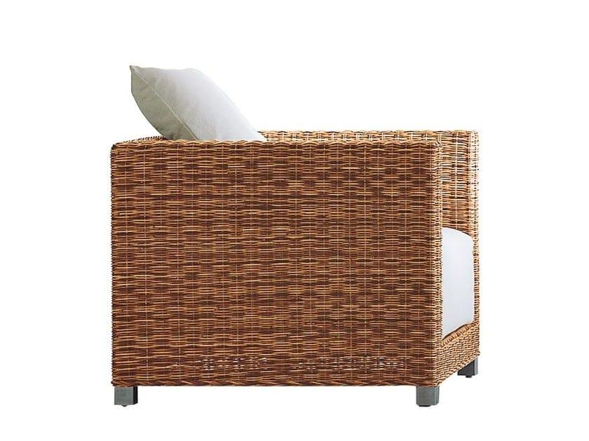 Armchair in handwoven dark pulut NET 01 - Gervasoni