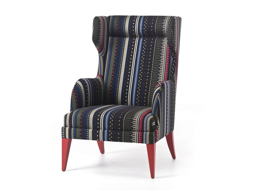 Contemporary style bergere wooden wingchair ONDA 08 / 108 / 18 / 118 by Very Wood