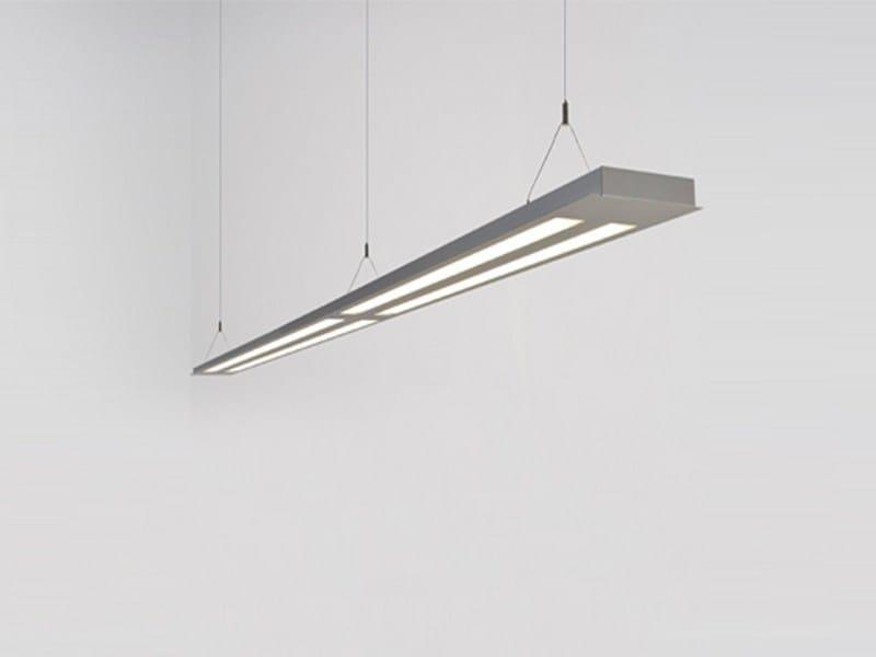 Direct-indirect light pendant lamp PLANOS 4x - Orbit