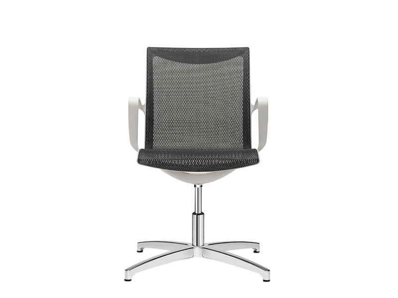 Mesh reception chair with armrests SOUL AIR | Reception chair - SitLand