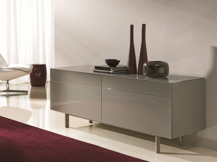 aly glass lackiertes sideboard by bontempi design silvia varsi maurizio varsi. Black Bedroom Furniture Sets. Home Design Ideas