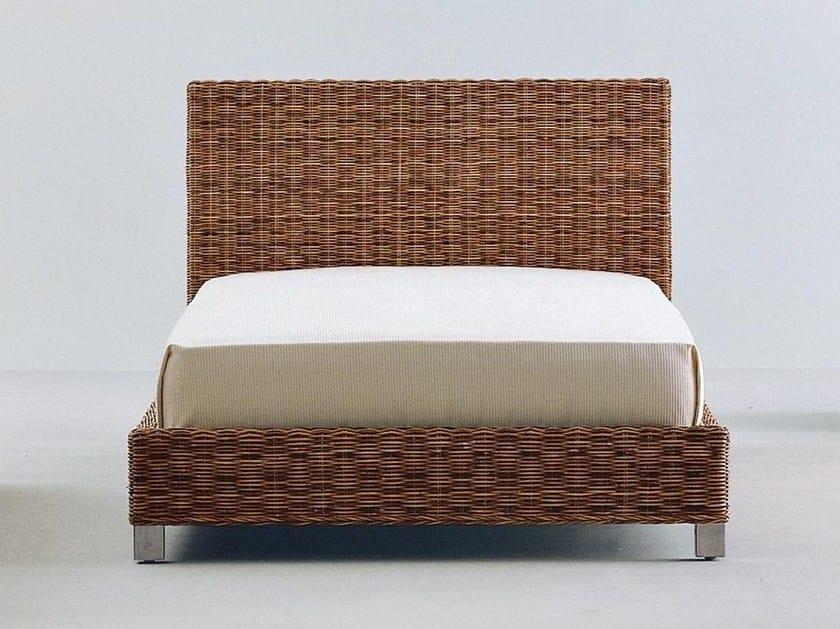 Handwoven dark pulut single bed NET 80 | Single bed - Gervasoni