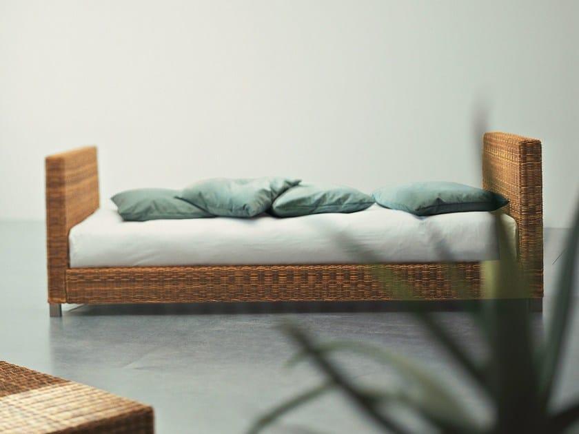 Single bed in handwoven dark pulut NET 80 EH - Gervasoni