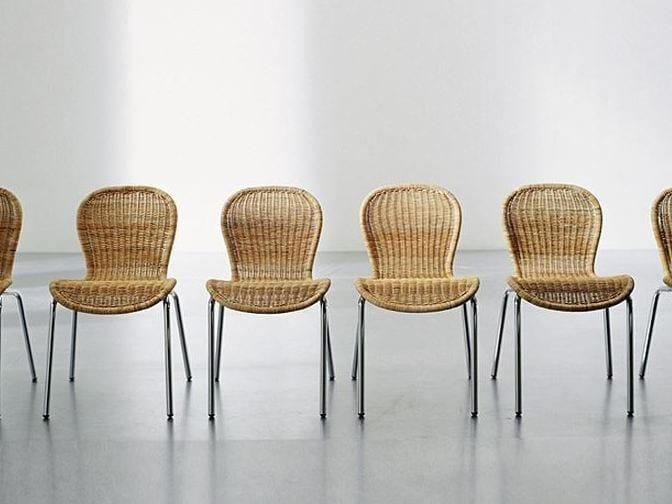 Handwoven dark pulut chair NET 23 P - Gervasoni