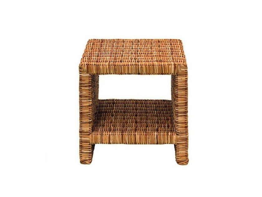 Side table in handwoven dark pulut NET 58 - Gervasoni