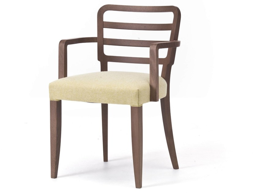 Fabric restaurant chair with armrests WIENER 12 - Very Wood