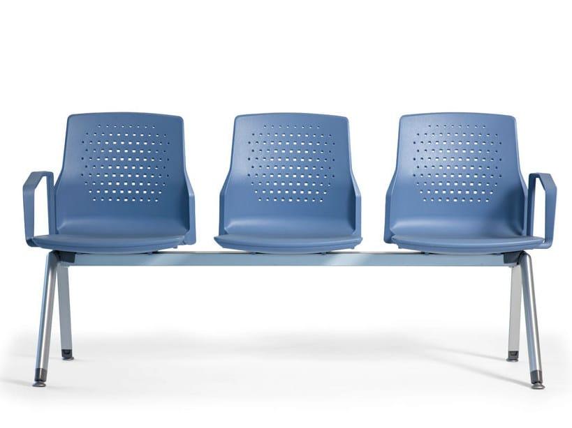 Beam seating with armrests UKA | Beam seating - ACTIU
