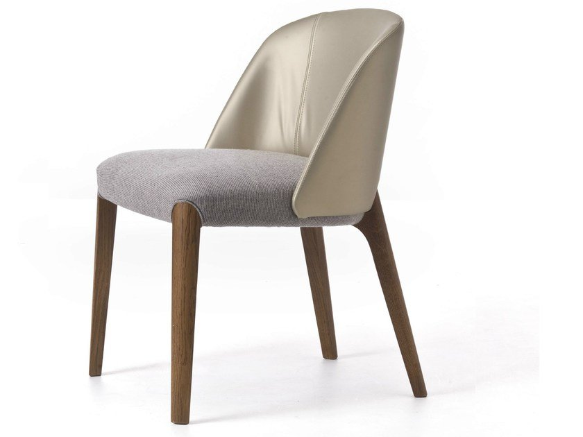 Contemporary style upholstered wooden restaurant chair BELLEVUE 01 - Very Wood
