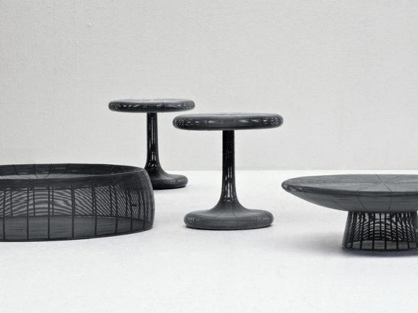 Coffee table in handwoven iron wire FILO 08 - Gervasoni