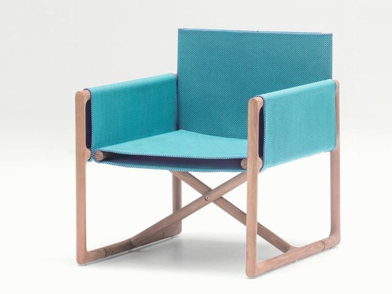 Folding garden armchair with armrests PORTOFINO | Garden armchair - Paola Lenti