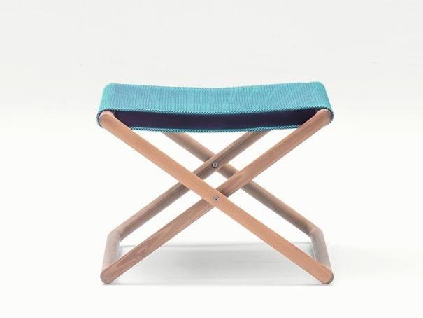 Folding garden stool PORTOFINO | Stool by Paola Lenti