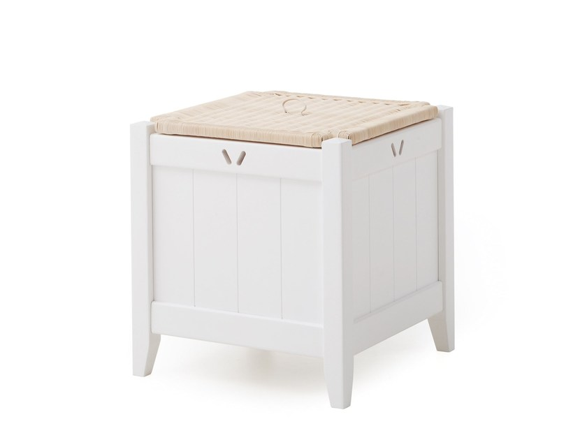 Solid wood laundry container ENGLISH MOOD | Laundry container - Minacciolo