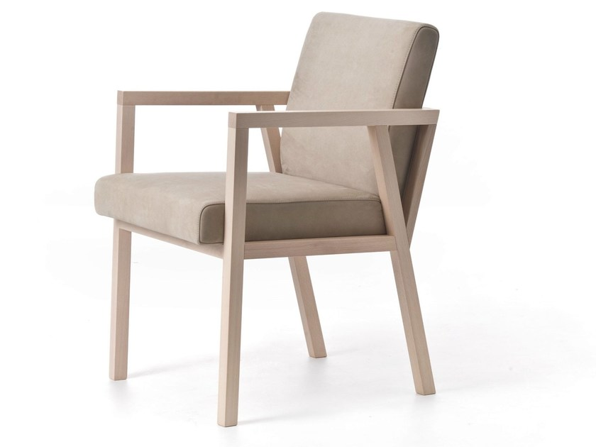 Contemporary style wooden easy chair with armrests PARIS 02 - Very Wood