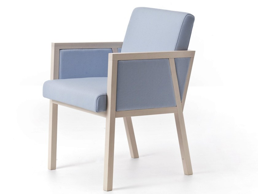 Fabric easy chair with armrests PARIS 03 - Very Wood