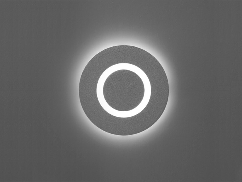 Wall-mounted concrete steplight MATRIX ROUND LED by Orbit