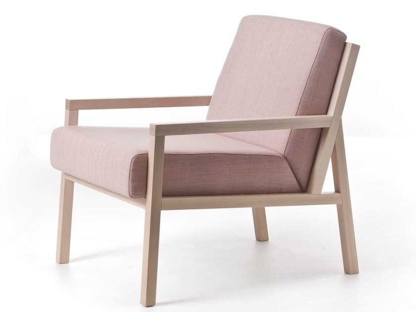 Fabric armchair with armrests PARIS 04 - Very Wood