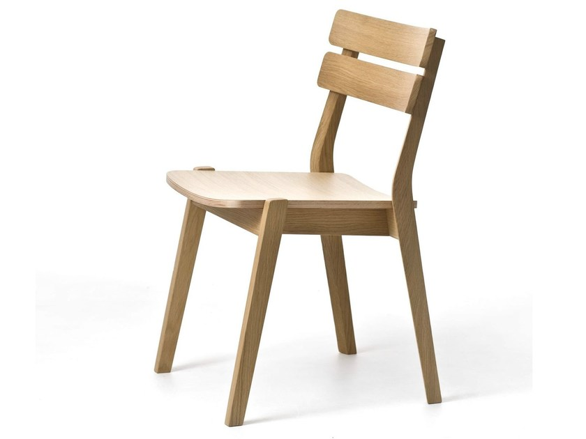 Contemporary style stackable open back wooden restaurant chair FRAME 11/L / FRAME OUT 11/L by Very Wood