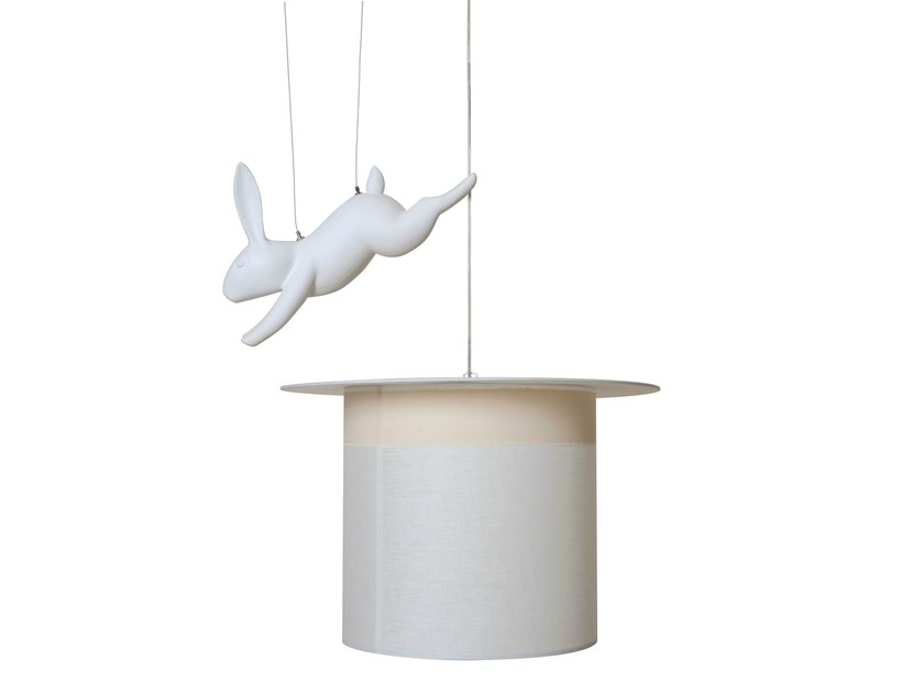 Linen pendant lamp WOW - Karman