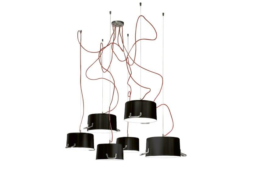 Aluminium pendant lamp POTS 6 - Minacciolo
