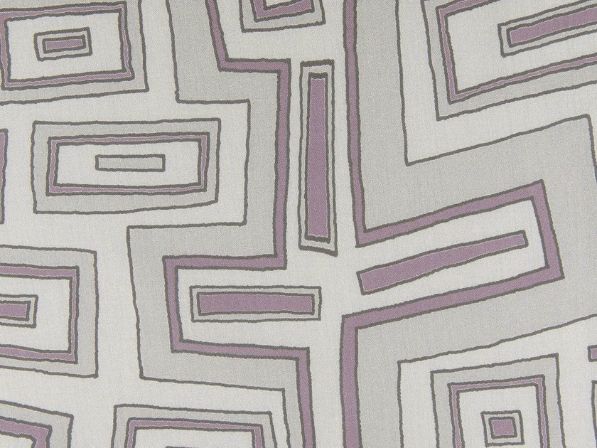 Cotton fabric with graphic pattern TURTLE TRAIL by KOHRO