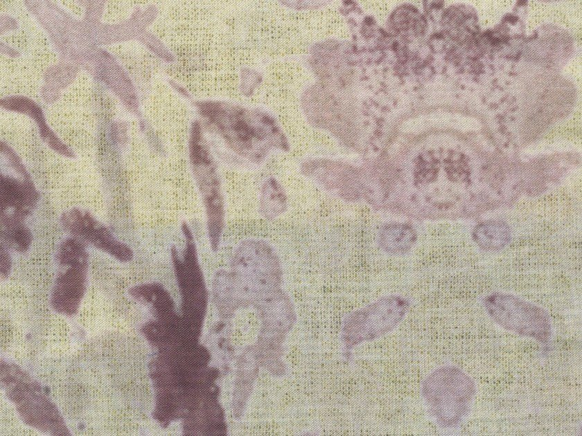 Cotton fabric with floral pattern AEOLIAN BREEZE - KOHRO